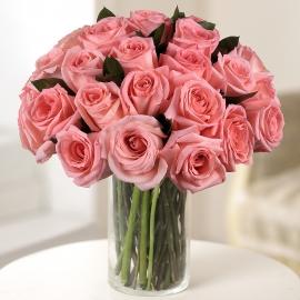 Букет из 25 розовых роз