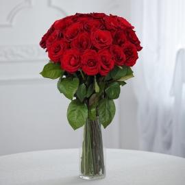 Букет 25 элитных красных роз